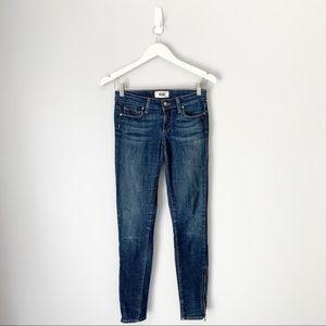 Paige Ankle Zip skinny jeans